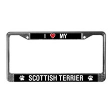 I Love My Scottish Terrier License Plate Frame