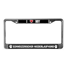 Schweizerischer Niederlaufhund License Plate Frame