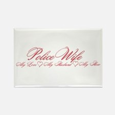 Policewife: love, husband her Rectangle Magnet
