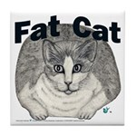 Fat Cat Tile Coaster