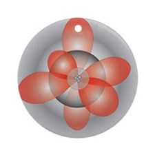 Unique Electron orbital Ornament (Round)