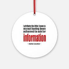 Information Ornament (Round)