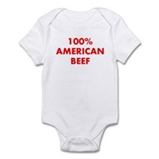 100% American Beef Infant Bodysuit