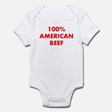 100% American Beef Infant Bodysuit