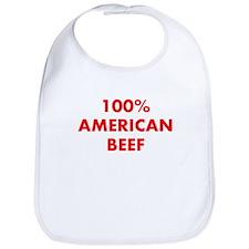 100% American Beef Bib