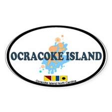 Ocracoke Island - Seashells Design Decal