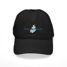 Ocracoke Island - Seashells Design Baseball Hat