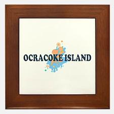 Ocracoke Island - Seashells Design Framed Tile