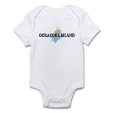 Ocracoke Island - Seashells Design Infant Bodysuit