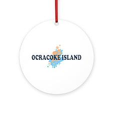 Ocracoke Island - Seashells Design Ornament (Round
