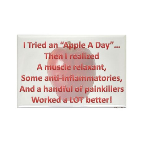 Apple A Day Rectangle Magnet (10 pack)