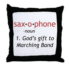 Definition of Saxophone Throw Pillow