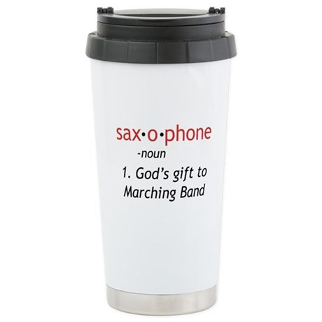 Definition of Saxophone Stainless Steel Travel Mug