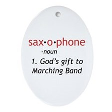 Definition of Saxophone Ornament (Oval)