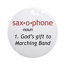 Definition of Saxophone Ornament (Round)