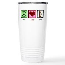 Peace Love Harp Travel Mug