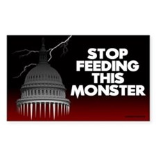 Stop Feeding This Monster 3x5 Sticker (10 pk)