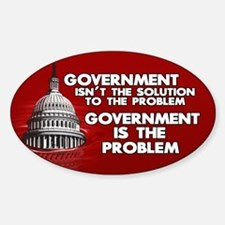 Government is the Problem 3x5 oval sticker