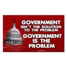 Government is the Problem 3x5 sticker