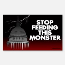 Stop Feeding this Monster 5x3 Decal
