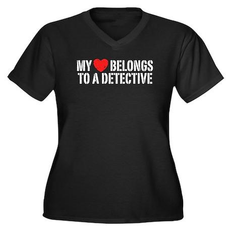 My Heart Belongs To A Detective Women's Plus Size