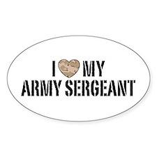 I Love My Army Sergeant Bumper Stickers