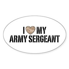 I Love My Army Sergeant Decal