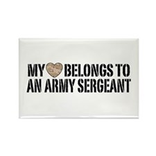 Army Sergeant Rectangle Magnet