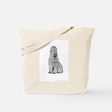 Black-Born Grey Briard Bitch Tote Bag