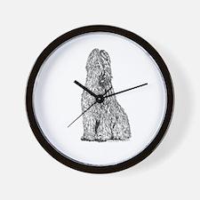 Black-Born Grey Briard Bitch Wall Clock