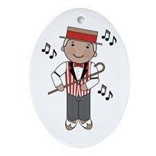 Little Barbershop Singer Ornament (Oval)