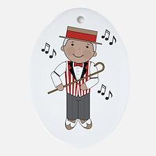 Little Barbershop Singer Ornament (Oval)