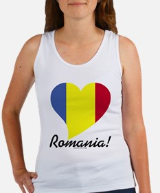 Heart Romania (World) Women's Tank Top