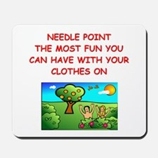 i love needlepoint Mousepad