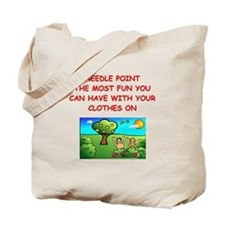 i love needlepoint Tote Bag