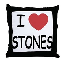 I heart Stones Throw Pillow