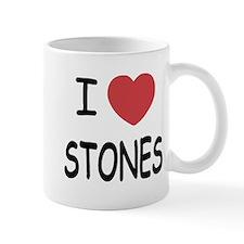 I heart Stones Small Mug