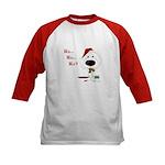 Poodle Santa's Cookies Kids Baseball Jersey