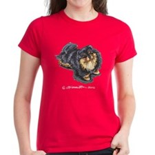 Black Tan Pomeranian Tee