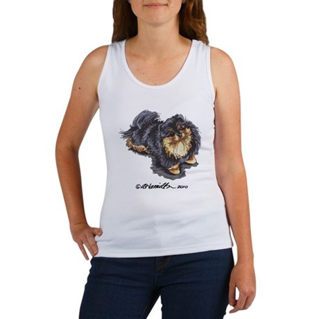 Black Tan Pomeranian Women's Tank Top