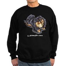 Black Tan Pomeranian Sweatshirt