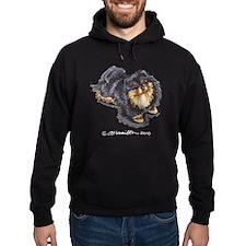 Black Tan Pomeranian Hoodie
