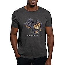 Black Tan Pomeranian T-Shirt
