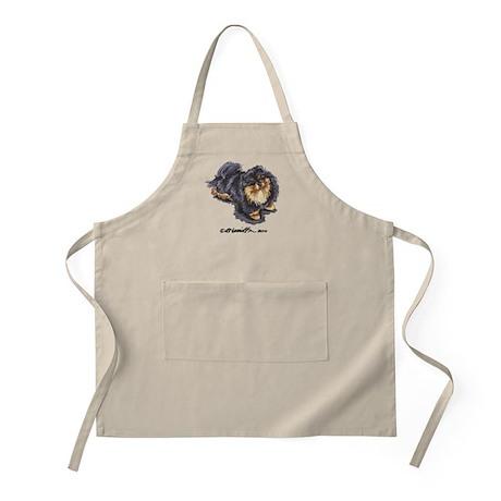 Black Tan Pomeranian Apron