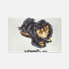 Black Tan Pomeranian Rectangle Magnet