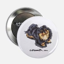 "Black Tan Pomeranian 2.25"" Button"