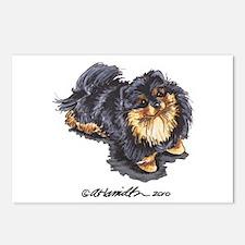 Black Tan Pomeranian Postcards (Package of 8)