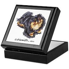 Black Tan Pomeranian Keepsake Box