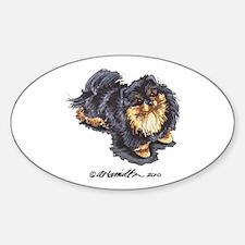 Black Tan Pomeranian Decal