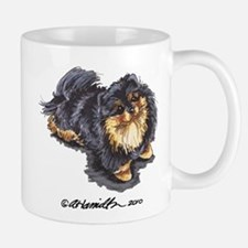 Black Tan Pomeranian Mug
